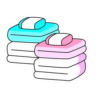 A folded duvet