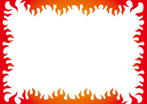Fire flame wall frame wallpaper ☆ leaflet material etc.