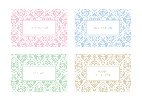 Label material damask pattern (pastel)