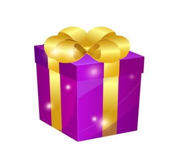 Present · purple · Christmas · on your birthday
