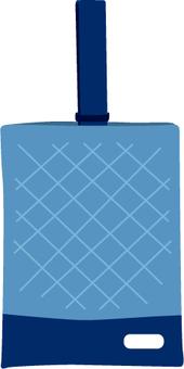 Blue shoe bag