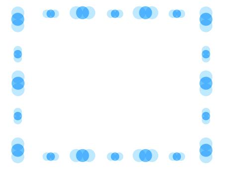 Blue circle frame