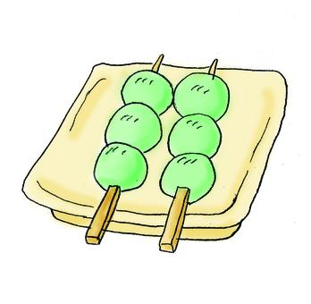 Matcha dumpling