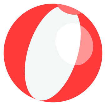 Beach ball (red)