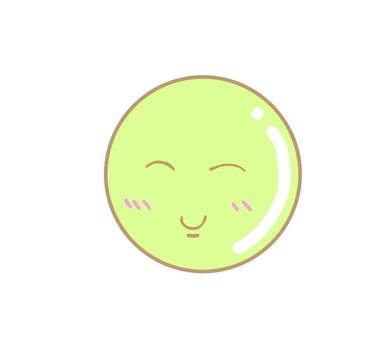 Round yellowish green