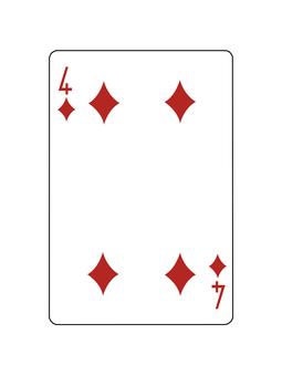 Playing Card Diamond 4
