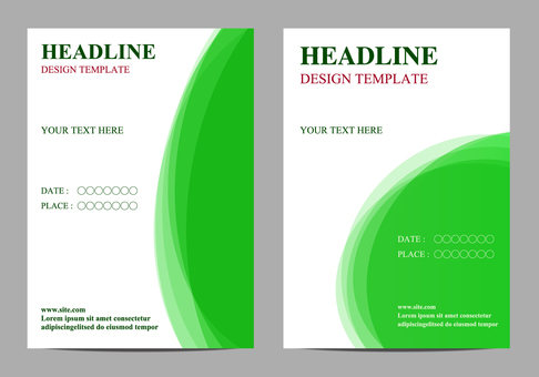Poster template green
