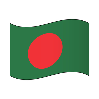 Flag of Bangladesh / Flapping