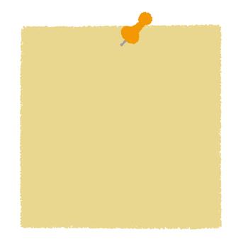 Push pin and memo paper _ yellow