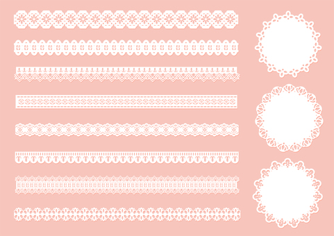 Lace material / set