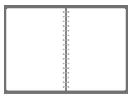 Black ring note plain