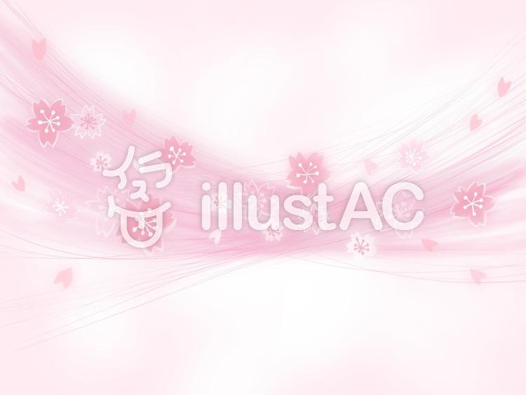 桜吹雪のイラスト