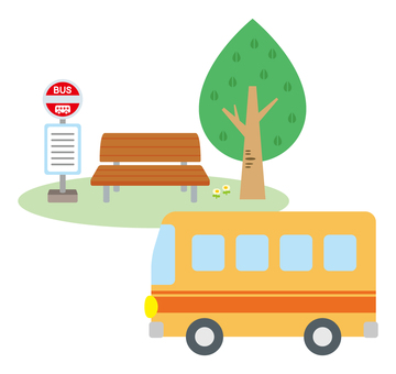 Bus and bus stop