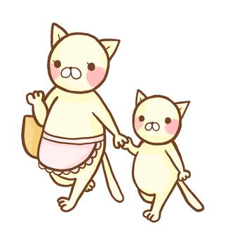 購物貓和父母