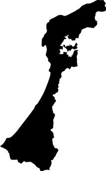 Ishikawa Prefecture _ Silhouette _ Black