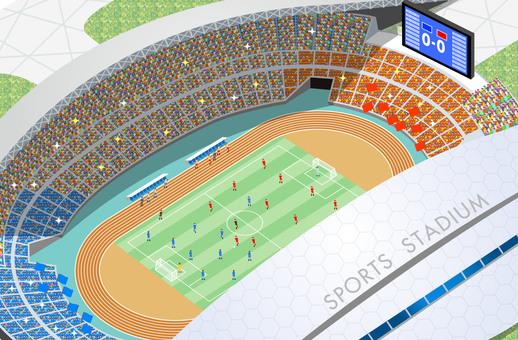 Football stadium stadium illustration
