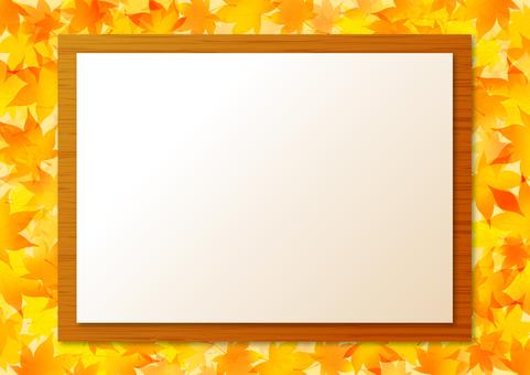 Autumn maple frame 2