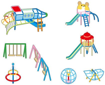 Playground park illustration