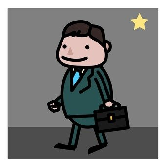 A businessman while coming home