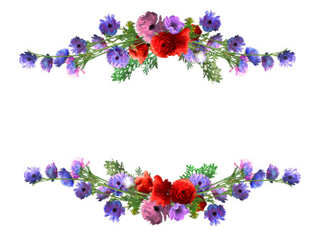 Anemone flower frame