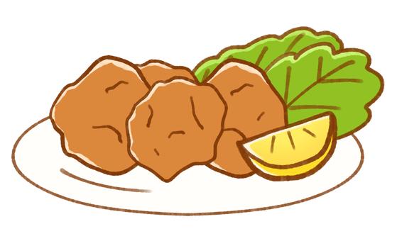 튀김 모듬 (레몬)