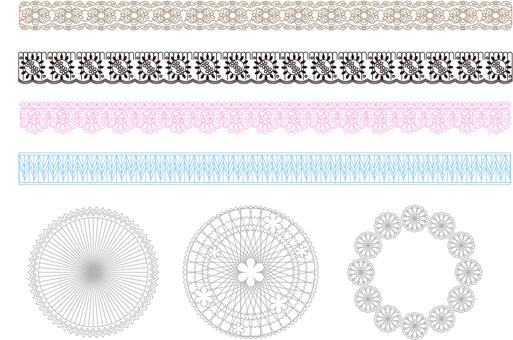 Lace ornament set