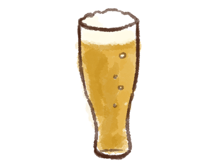 Crayon series [beer / glass]