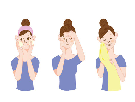Face wash_Women's illustration