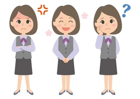 여성 J 유니폼 세트 3