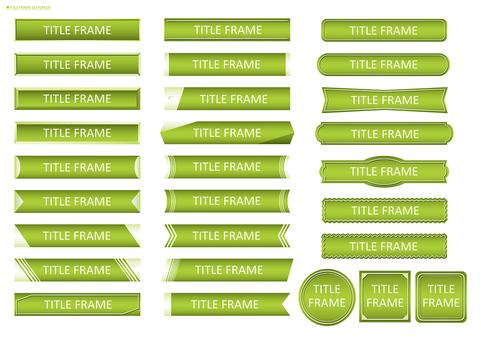 Title frame set 02 (green)