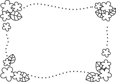 꽃과 나뭇잎 프레임