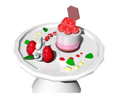 3DCG dessert (Panna cotta)