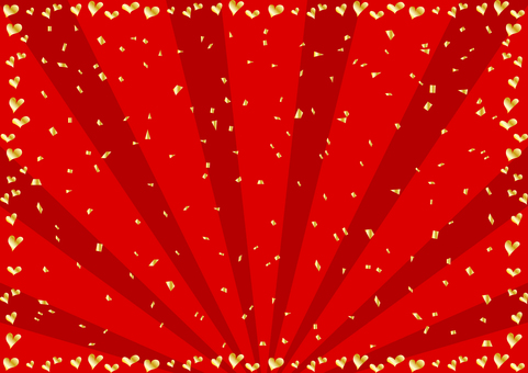 Heart Frame Confetti Concentrated Line Background