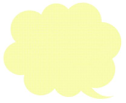 Speech balloon yellow