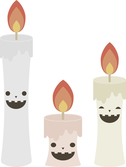 Halloween 17 (ghost candle)