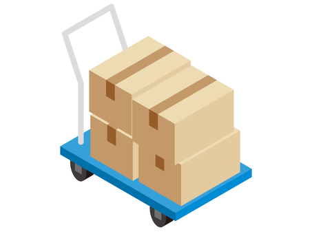 Z014_cart and cardboard