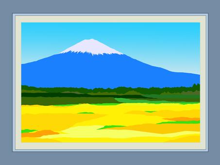 Photo frame and Mt. Fuji