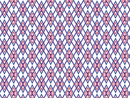 Japanese Pattern Pattern (Indigo and Red)
