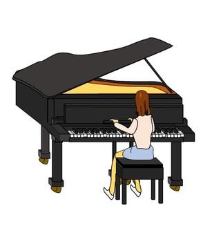 Practice at Grand Piano