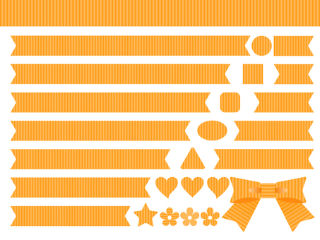 Ribbon set Orange stripe