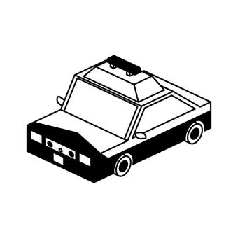 Police car (monochrome)