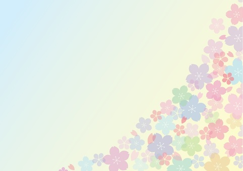Pastel cherry background 2