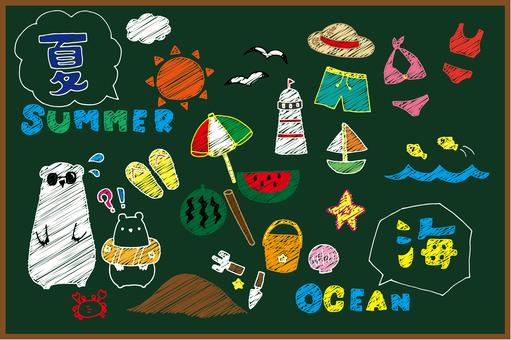 Summer material_sea (blackboard)