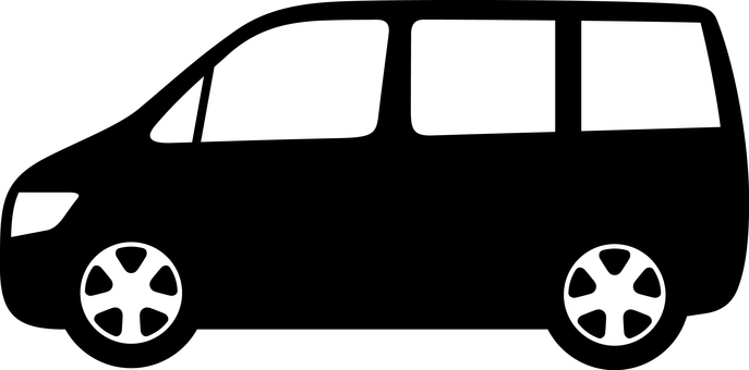 Car Silhouette minivan