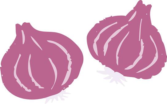 Purple jade onion