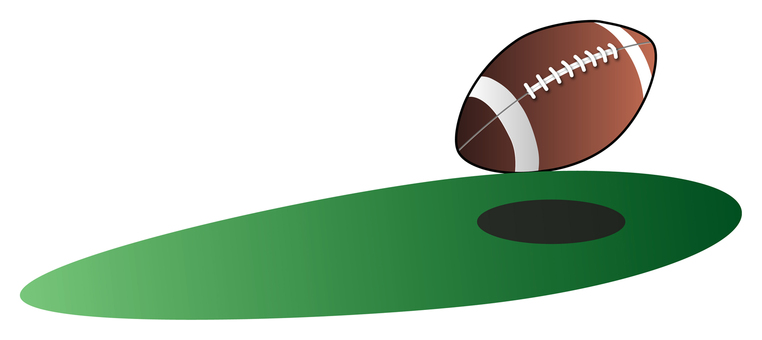Running rugby ball