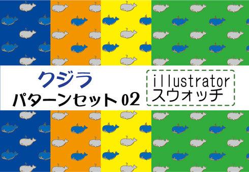 Whale pattern set 02