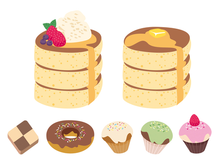 Pancakes and sweets