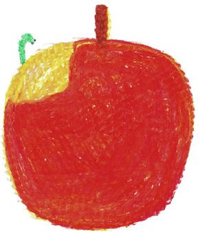 Worm-eaten apple crayons