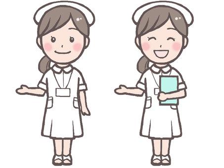 Nurse illustration 1 (guidance pose)